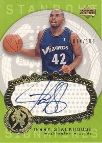 2003-04 Upper Deck Triple Dimensions Standout Sigs #70 Jerry Stackhouse 74/100