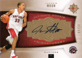 2007-08 Ultimate Collection Rookies Gold #126 Jamario Moon AU 04/50 (X)