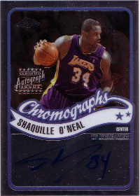 2003-04 Topps Chrome Autographs #CASO Shaquille O'Neal C