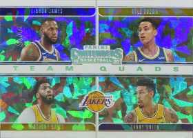 (2020 Lakers) 2019-20 Panini Contenders Team Quads Cracked Ice #14 Anthony Davis / Kyle Kuzma / Danny Green / LeBron James /25 (NUM missing!)