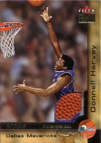 2000-01 Fleer Premium Rookie Game Balls #219 Donnell Harvey RC 0222/1999 (X)