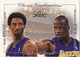2001-02 Fleer Platinum Classic Combinations #8 Kobe Bryant / Shaquille O'Neal 246/500 (X)