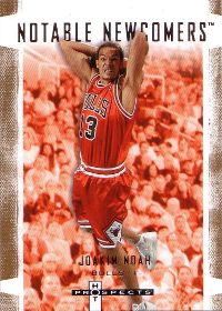 2007-08 Fleer Hot Prospects Notable Newcomers #2 Joakim Noah RC