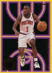1993-94 Fleer First Year Phenoms #3 Lindsey Hunter (X)