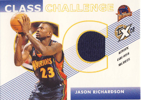 2002-03 Topps Xpectations Class Challenge Relics #CCJR Jason Richardson