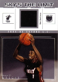 2004-05 SkyBox LE Sky's the limit Jerseys #DW2 Dorell Wright 33/99