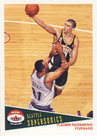 2001-02 Fleer Shoebox Footprints #156 Vladimir Radmanovic 097/150