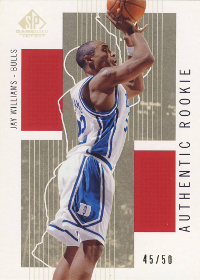 2002-03 SP Game Used Rookies Gold #103 Jay Williams 45/50