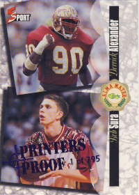 1995 Classic Five Sport Printer's Proofs Bob Sura with Derrick Alexander #190 /795 /jeremy (X)