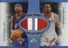 2006-07 Reflections Dual Fabric #HR Patch Blue with Jalen Rose 08/15 (X)