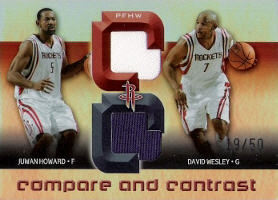 2005-06 Reflections Compare and Contrast Quad Jerseys #PFHW 19/50 with Pietrus / Fisher / Wesley