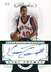 2017-18 Panini Flawless Momentous Autographs Green #56 3/5 (X)