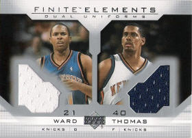 2003-04 Upper Deck Finite Elements Jerseys #FS16 with Charlie Ward