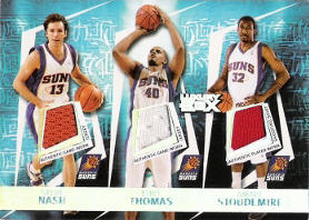 2005-06 Topps Luxury Box Triple Double 5 Relics #3 with Nash / Stoudemire / Marion / Barbosa 101/193 (X)