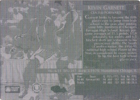 1995 Classic #5 Printing Plate back 1/1 (X)